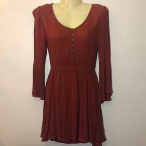 Forever 21 burnt orange blouse dress small
